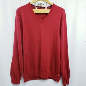 Izod V-Neck Sweater Lg